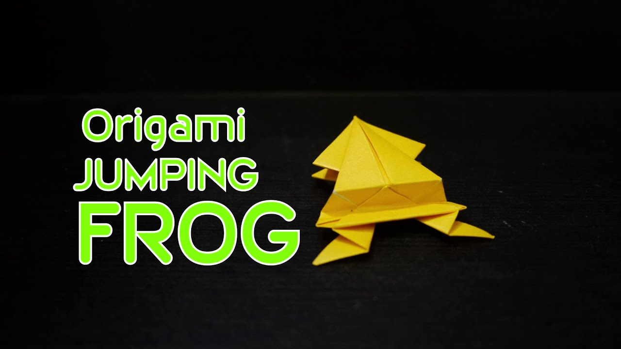Origami Jumping Frog: How to make Origami Jumping Frog ... - photo#28