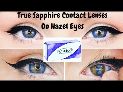 Fresh Look Colorblends Contact Lenses In True Sapphire On ... True Sapphire Contact Lenses