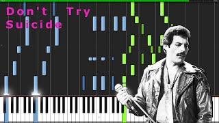 QUEEN - DON'T TRY SUICIDE - Piano Arrangement Tutorial