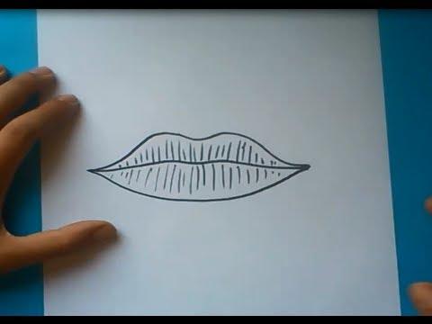 Como dibujar unos labios paso a paso   How to draw lips - YouTube