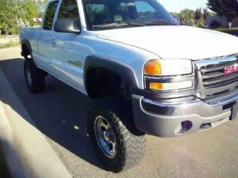 2004 gmc sierra 2500hd extended cab short bed lifted duramax stock 0203 youtube. Black Bedroom Furniture Sets. Home Design Ideas