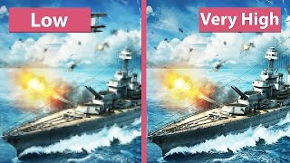 World of Warships Beta – Low vs. Very High Graphics Comparison [60fps][FullHD]