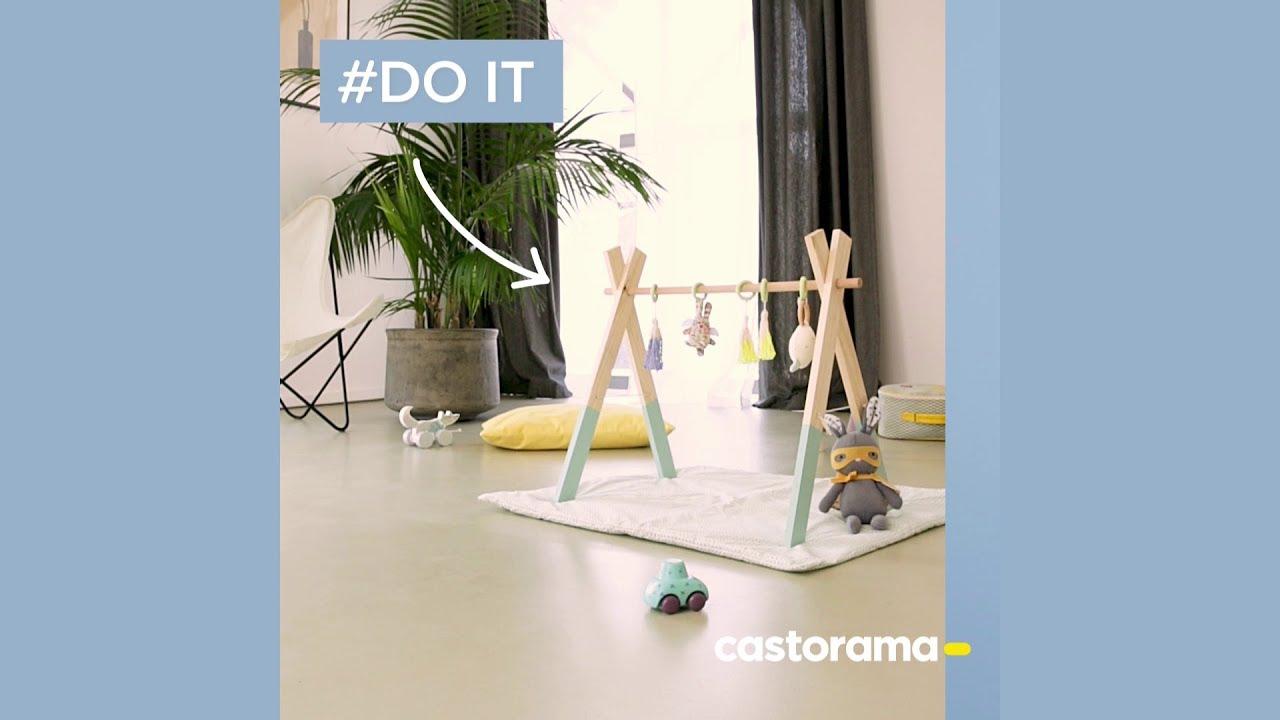 Comment Fabriquer Un Mobile En Bois diy : fabriquer un portique d'éveil en bois - castorama