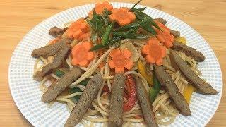 Gỏi Mì Ý với thịt Chay