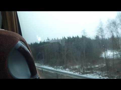 Bus from Vilnius to Siauliai   Lithuania   January 2105