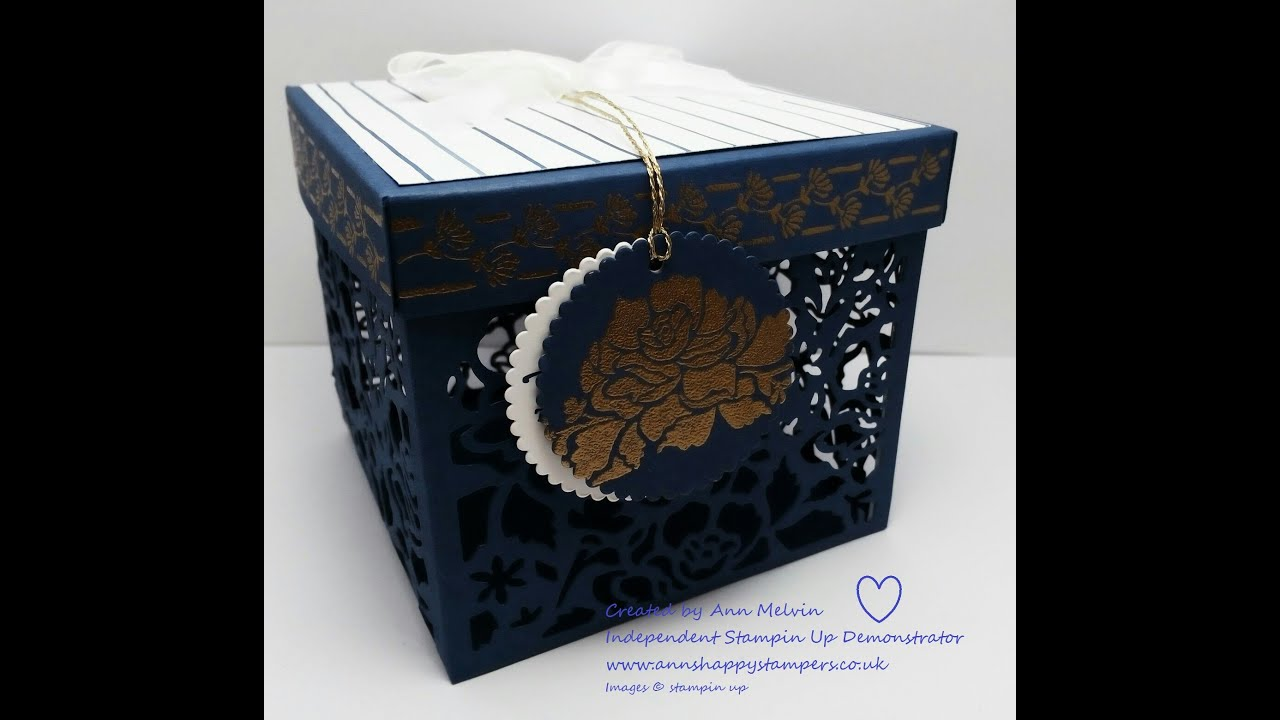 Beautiful Detailed Floral Thinlits Gift Box - YouTube