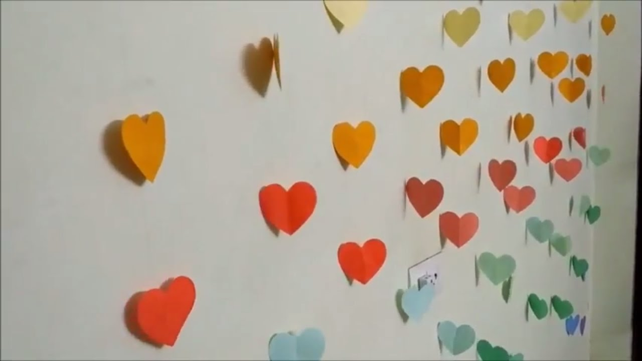 DIY Hearts Wall Room Decor