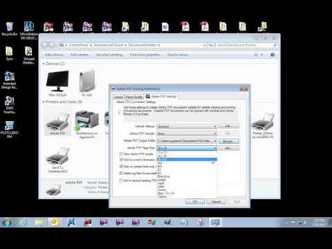 Adobe PDF Printer Driver Setup