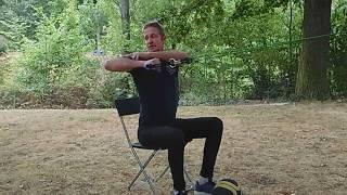 Exercices douleurs cervicales et chaîne brachiale – Etirement musculaire chaîne antérieure du cou