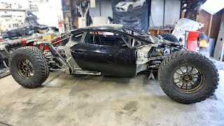 Off-Road Lamborghini Huracan gets Wheels, Tires, and Suspension All Mounted Up!