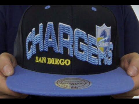 363914b080e5d San Diego Chargers THE-WAVE SNAPBACK Black-Sky Hat