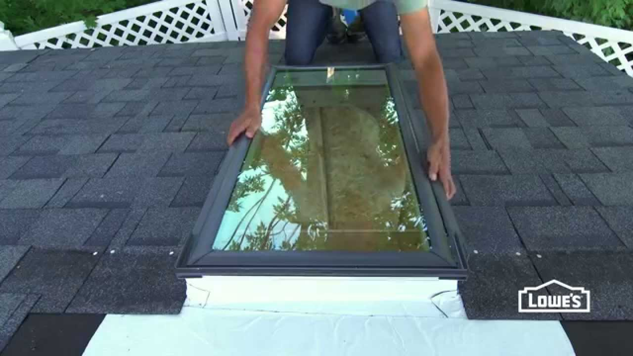 How To Install Skylights In A Shed Youtube