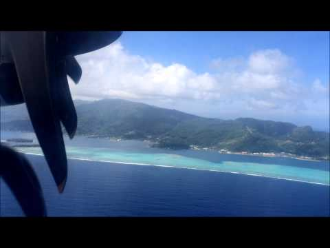 Air Tahiti ATR 72-500 - Moorea to Raiatea (Great Aerial Views of the Lagoon)