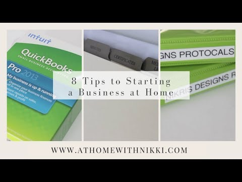 HOME-BASED BUSINESS: 8 Tips To Starting A Business At Home