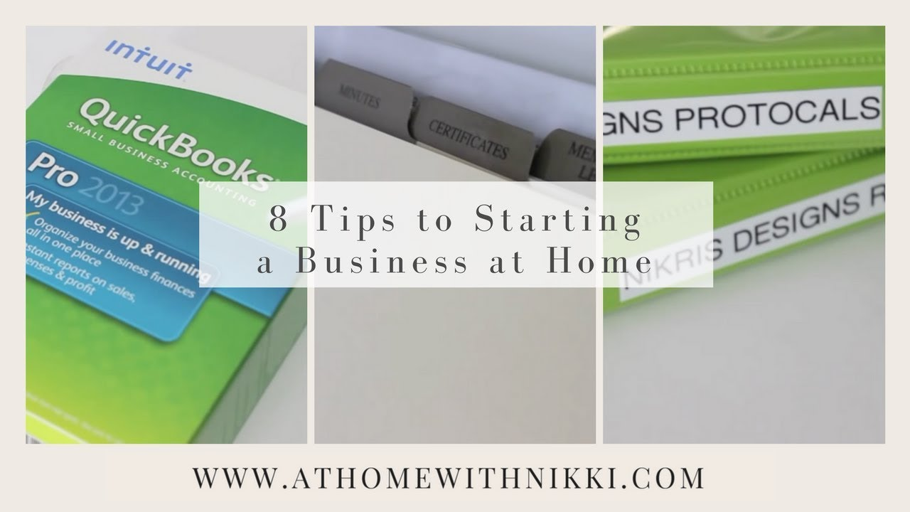 HOME-BASED BUSINESS: 8 Tips To Starting A Business At Home - YouTube