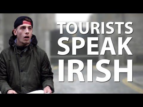 Tourists Try Speaking In Irish
