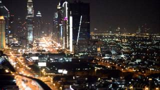 DUBAI NIGHT VIEW | BURJ KHALIFA | WTC | EMIRATES | ROOFTOP | LIGHTS