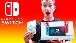 We Got Nintendo Switch!! Unboxing the Box We Got + Zelda BotW!!