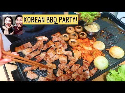 How to setup a Korean BBQ party at home!