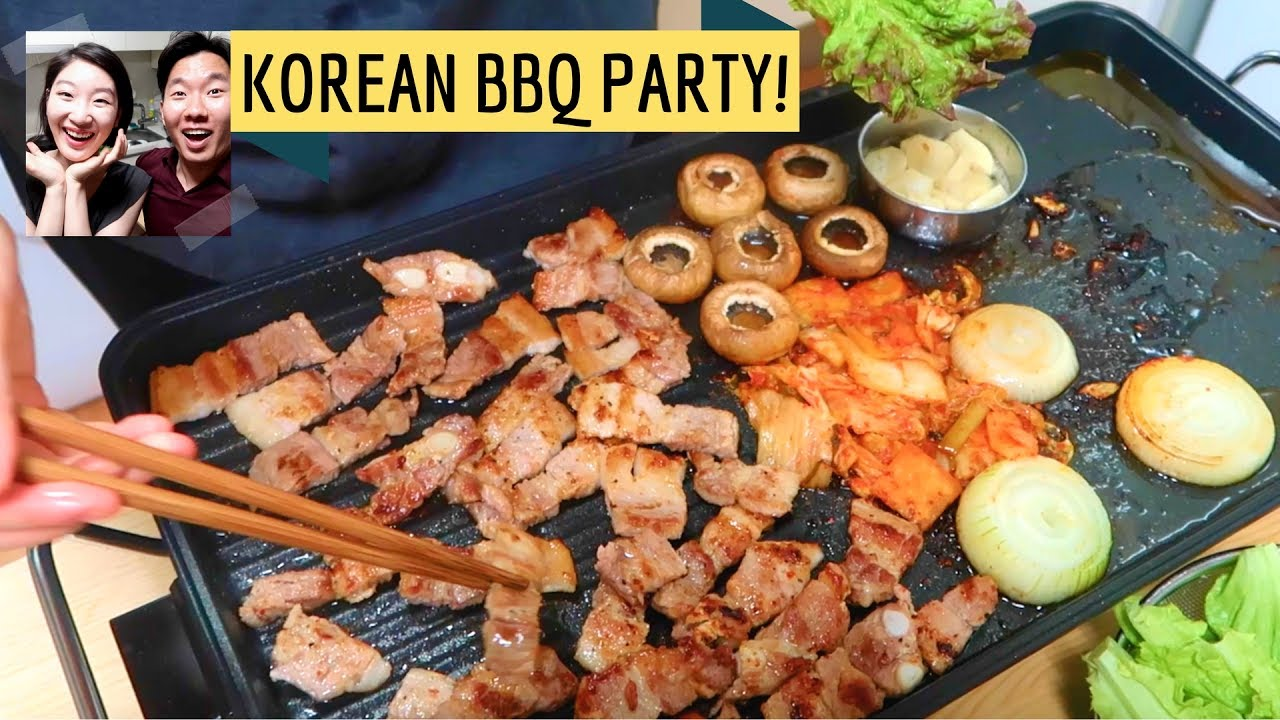 how to setup a korean bbq party at home! - youtube