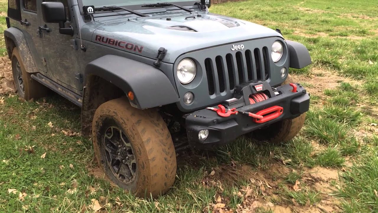 2015 jeep rubicon hard rock in thick mud youtube. Black Bedroom Furniture Sets. Home Design Ideas