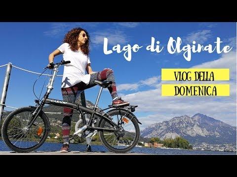 LECCO VLOG: ciclovia del lago di Olginate con folding bici pieghevole\\ VLOG DELLA DOMENICA