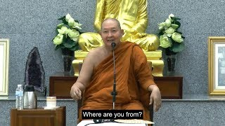 """The Absence of Morality Lets Defilement Rule""  Dhamma talk  A. Pramote  Eng Subtitle"