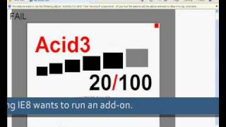 Web Browsers Acid3 Test