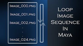 Maya Loop and Time Image Sequence Texture Tutorial