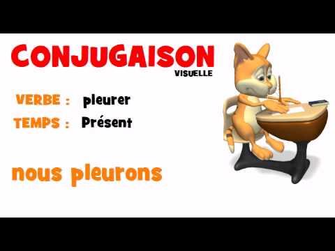 CONJUGAISON = pleurer = Présent