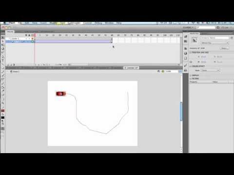 Анимация по траектории в Adobe Flash