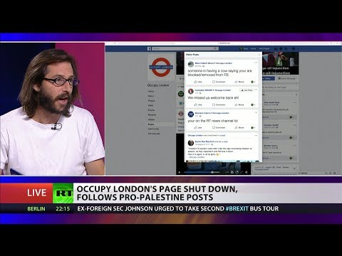 Occupy London's page shut down, follows pro-Palestine posts
