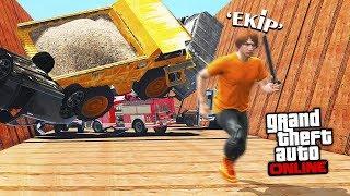 500KM/HIZ İLE GİDEN KAMYON PARKUR YAPARAK KAÇ !! - GTA 5 Online (FurkanYamanHD,Sesegel,Ümidi)