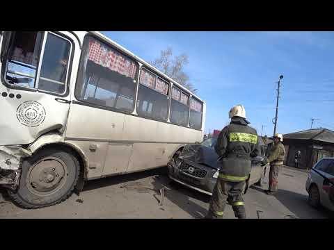 Авария на перекрестке ул.краснопартизанская и бородинская.Канск