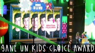 GANÉ UN KIDS CHOICE AWARD | Sebastián Villalobos