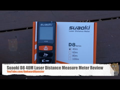 Suaoki D8 40m Laser Distance Measure Meter Review Youtube