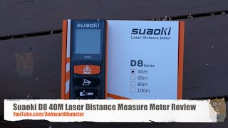 suaoki d8 40m laser distance measure meter review