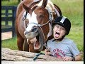 Horse and girl, animals with girls, photo fun