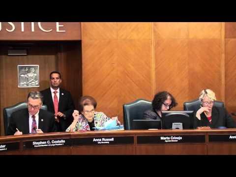City Secretary calls agenda at City Council 2 Sept 2015