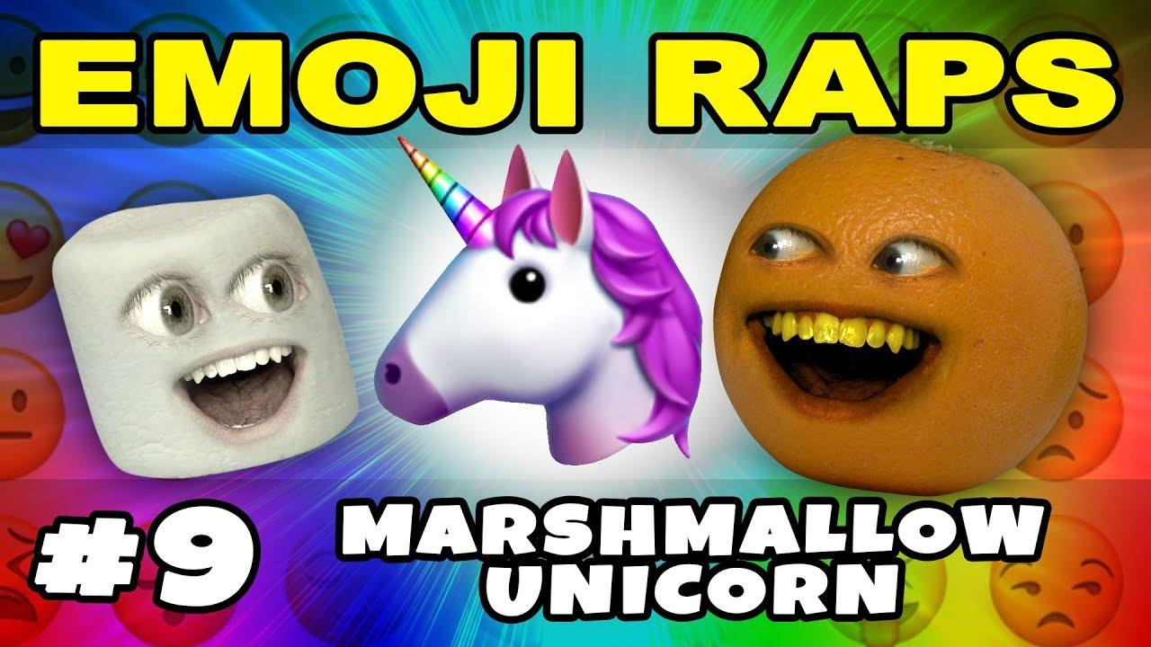 EMOJI RAP #9: Marshmallow's Unicorn Rap! - YouTube