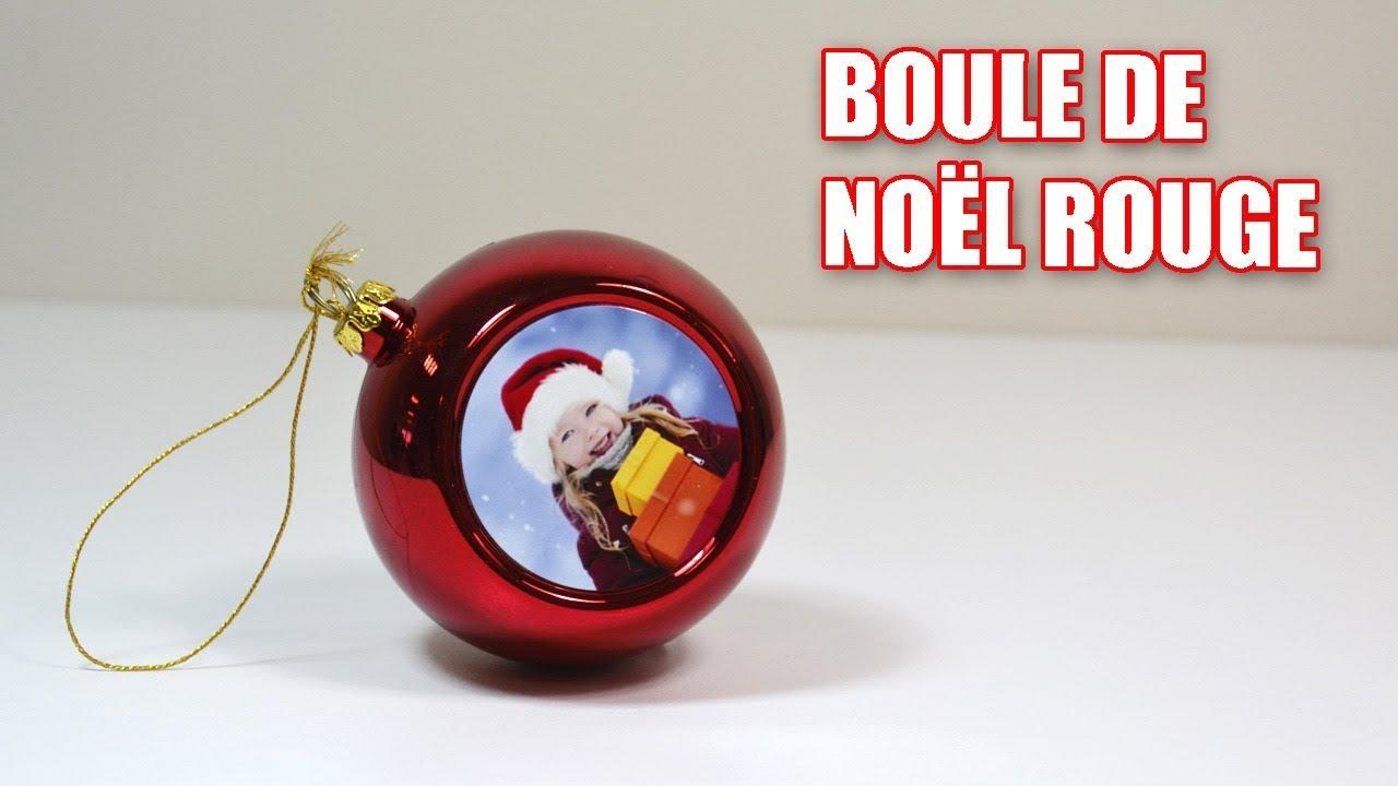Personnaliser Une Boule De Noel Transparente boule de noël rouge personnalisée