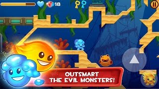 Fire and Ice Ultra HD - Pc Windows Platformer Puzzle Games - Videos Games for Kids - Girls