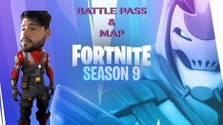 Fortnite season 9: first look at battle pass and new map!
