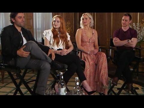 'X-Men: Apocalypse': Jennifer Lawrence, Oscar Isaac, James Mcavoy, Sophie Turner Interview