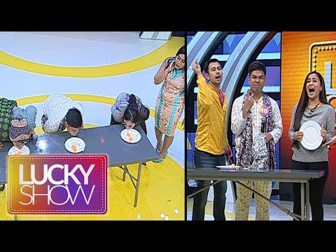 Juwita Bahar Gagal Di Games Pisahkan Bola Ping Pong [Lucky Show] [13 September 2016]