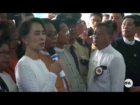 Daw Aung San Suu Kyi at Late NLD Chairman U Aung Shwe's Funeral