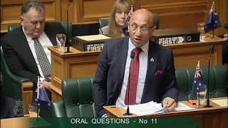 Question 11 - Hon Mark Mitchell to the Minister of Defence thumbnail