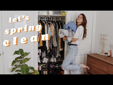 cleaning out my closet! spring clean with me 🌼