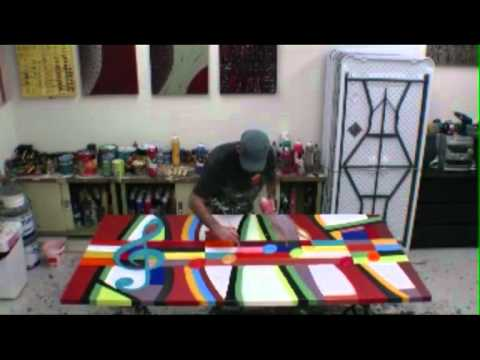 HOW TO CREATE A LARGE ABSTRACT ARTWORK Instructional art DVD lessons Learn to paint large wall art