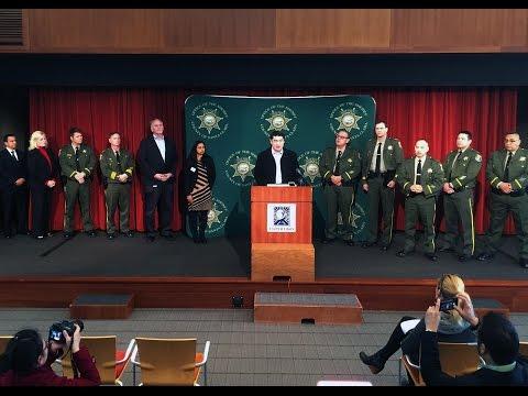 Press Conference:   Santa Clara County Sheriff's Office - 01/30/2017